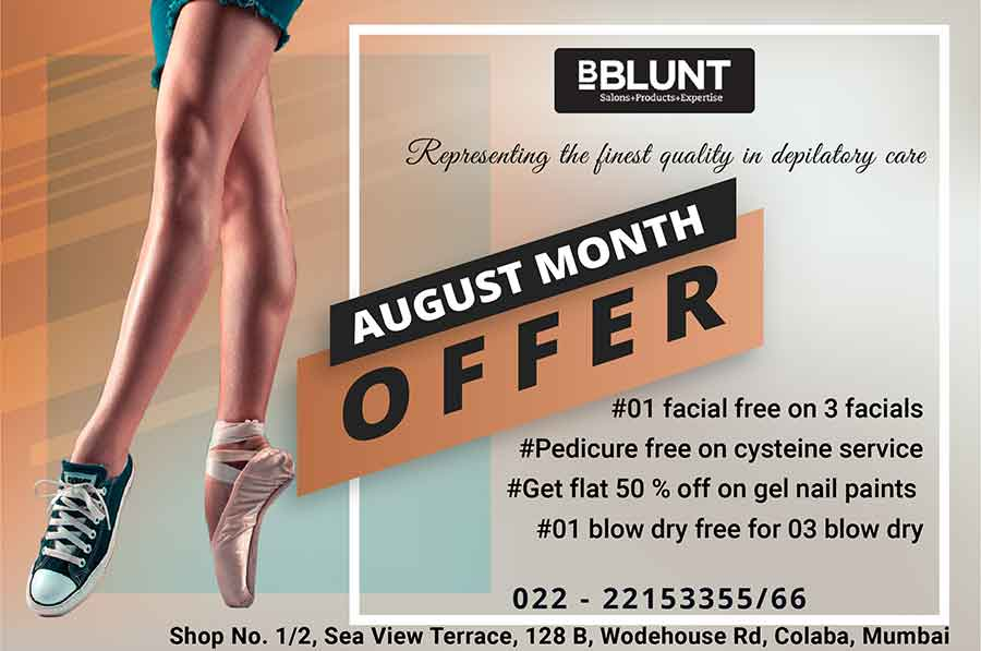 Presenting the august month offer for B Blunt